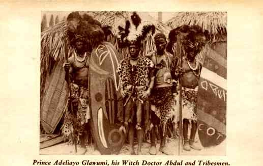 Black Prince Witch Doctor Tribesmen Chicago Expo