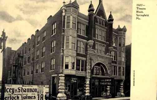 MO Springfield Sign Sherlock Holmes Theatre