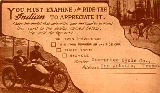 Advert Indiana Motorcycle Bicyclist in Woods