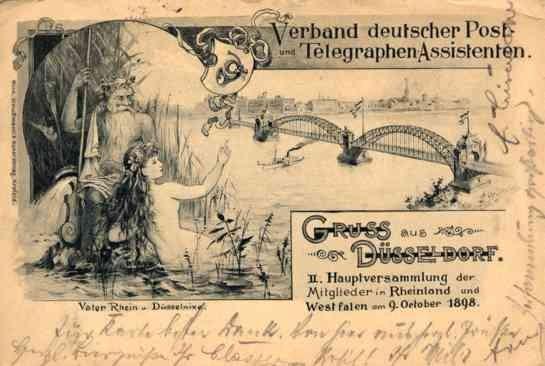 Mermaid in Waters Gruss Aus Dusseldorf Pioneer
