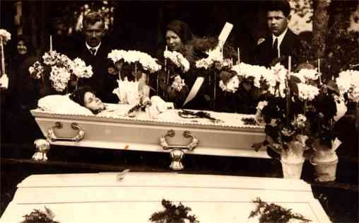 Dead Girl in Casket Real Photo