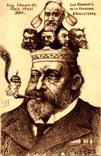 British King Edward VII Orens Political Satire