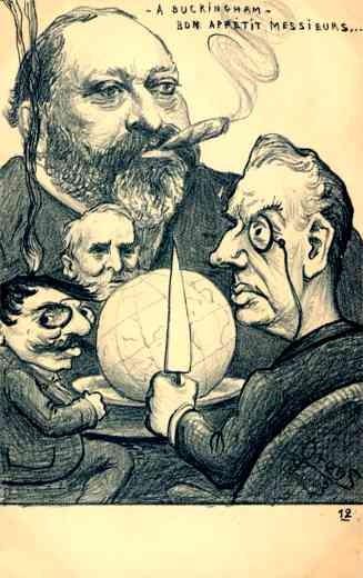 British King Edward VII Globe Orens Satire