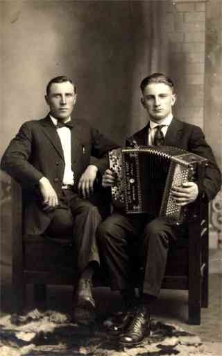 Accordionist Real Photo