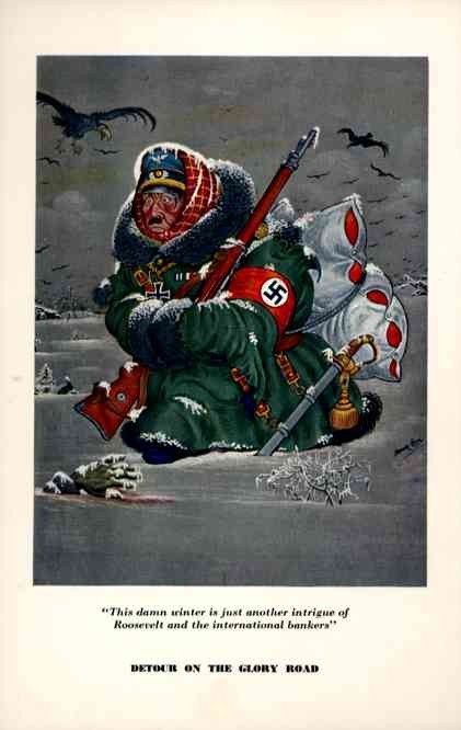 WW2 Hitler Walking in Snow Szyk