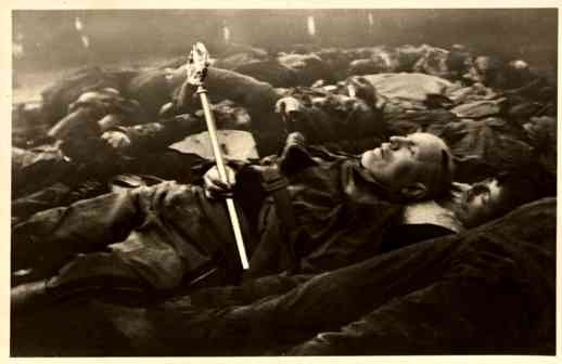 Mussolini Corpse WWII Real Photo