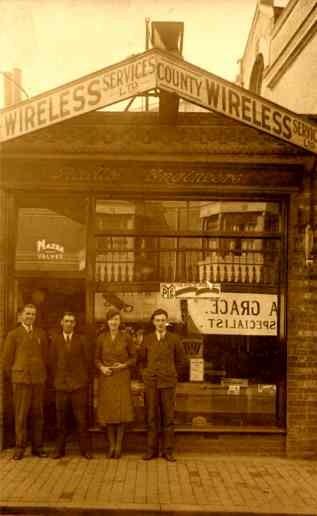 Wireless Store Wales UK Real Photo