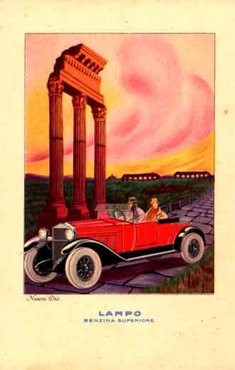 Advert Gasoline Couple in Auto Italian