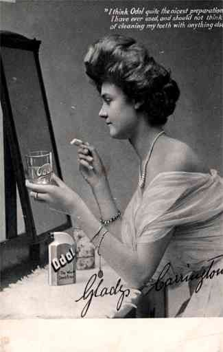 Advert Odol Dental Liquid Girl by Mirror