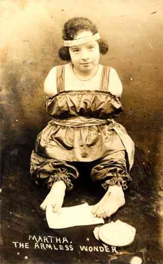 Armless Letter Writer Girl RP Circus