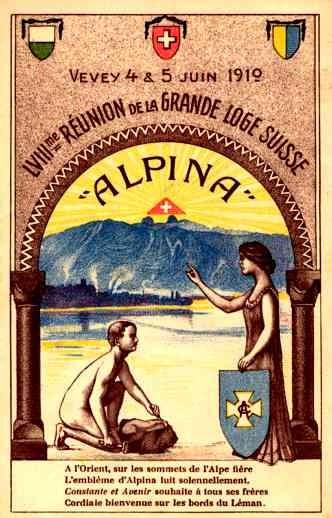 Reunion 1910 of Great Swiss Lodge