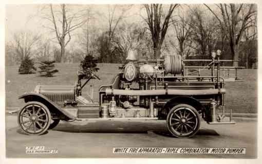 Fire Motor Pumper Truck Real Photo