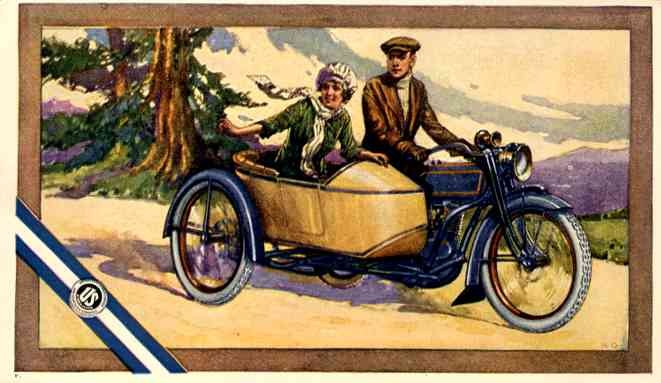 Girl in the Side-Car Advert Tires