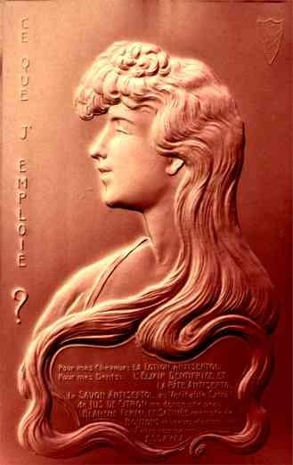 Advert Dental Lotion Airbrushed Art Nouveau