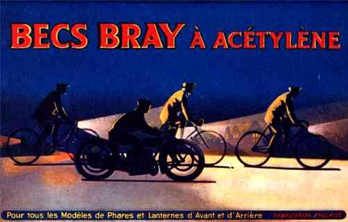Motorcyclists at Night Advert Nozzles