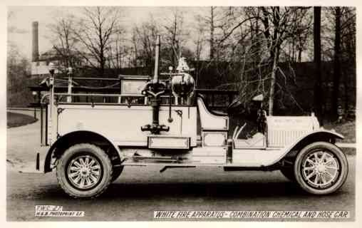 White Fire Apparatus Real Photo