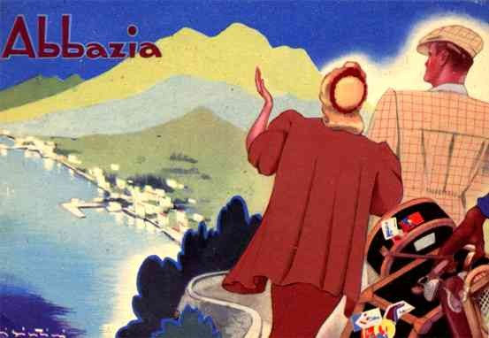 Resort Abbazia Poster Style Italian
