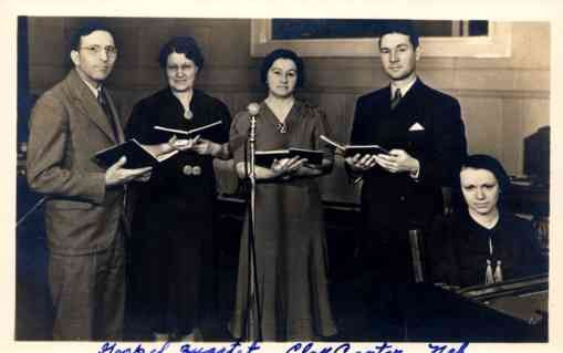 Evangelist Gospel Quartet NB Real Photo