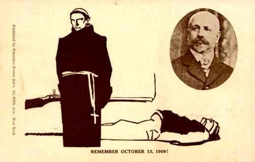 Anti-Catholic Ferrer 1909 Spanish