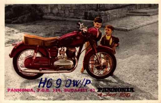 Children adoring Motorcycle Hungarian Advert