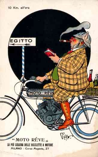 Advert Motorcycle Ride with Cigar Italian