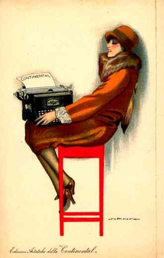 Advert Typewriter Art Deco Italian