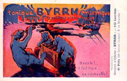 Sailboat Polar Bear Advert Tonic Byrrh