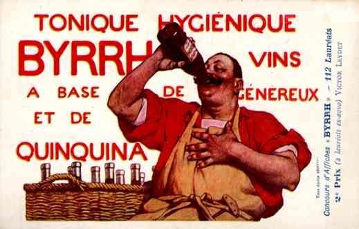 Advert Tonic Byrrh Drinking French