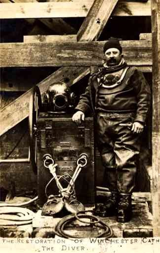 Hard Hat Diver Real Photo