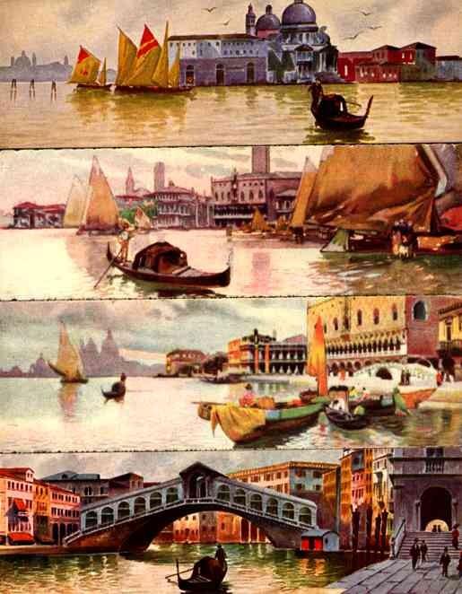 Venezia Gondola Sailboat Italian