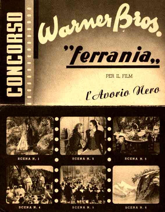 Warner Bros. Movie Advert Novelty Italian