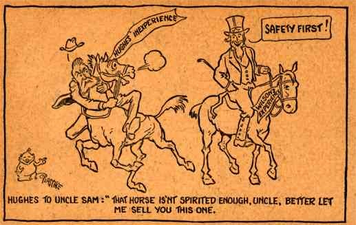 Anit-Hughes For President Cartoon 1916