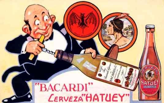 Advert Rum Bacardi Indian Chief
