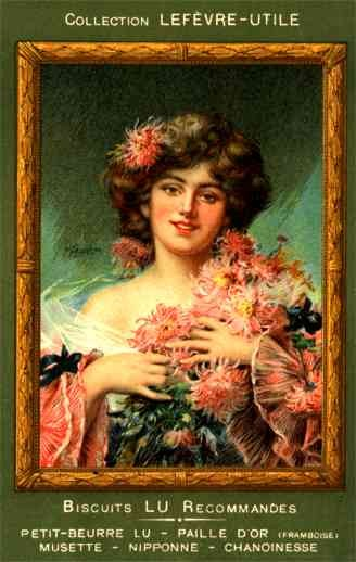 Advert Biscuits Lady Asters French