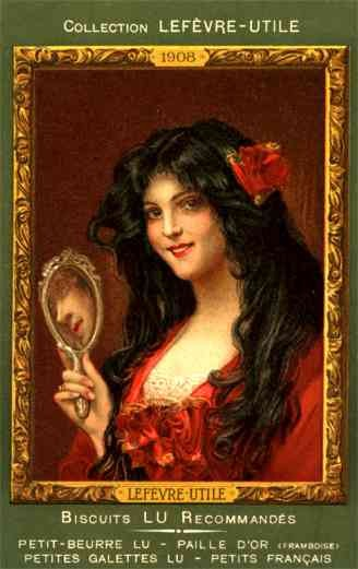 Advert Biscuits Lady Mirror French