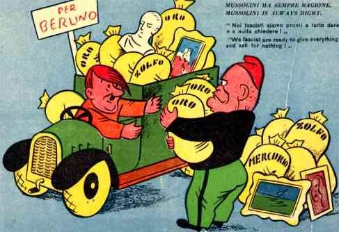 Hitler Mussolini Truck WWII Italian