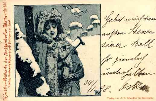 Lady Christmas German K. Moser