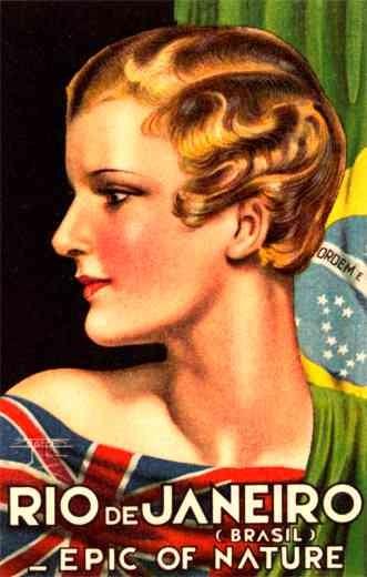 Travel Poster Great Britain Brazil