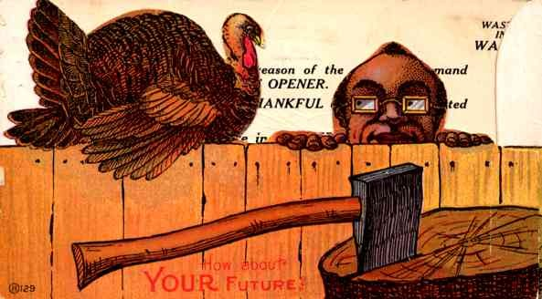 Black Man & Thanksgiving Turkey Advert Novelty