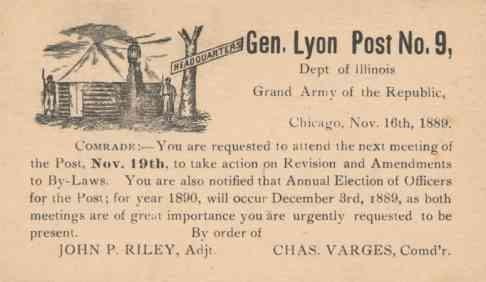 Civil War Post GAR, Chicago, IL