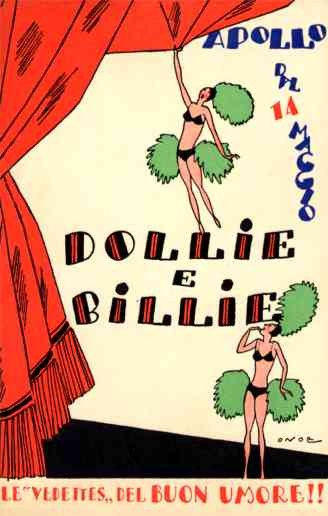 Risque Show Girls Theatre Italian Art Deco