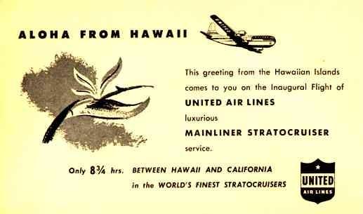 United Air Lines Airplane Advert