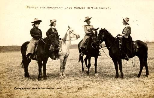Cowgirls & Horses Martin Real Photo