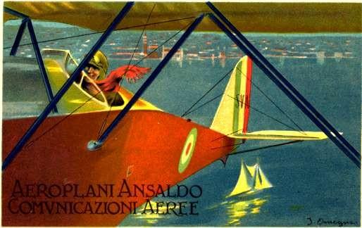 Airplane & Yacht Art Nouveau Italian