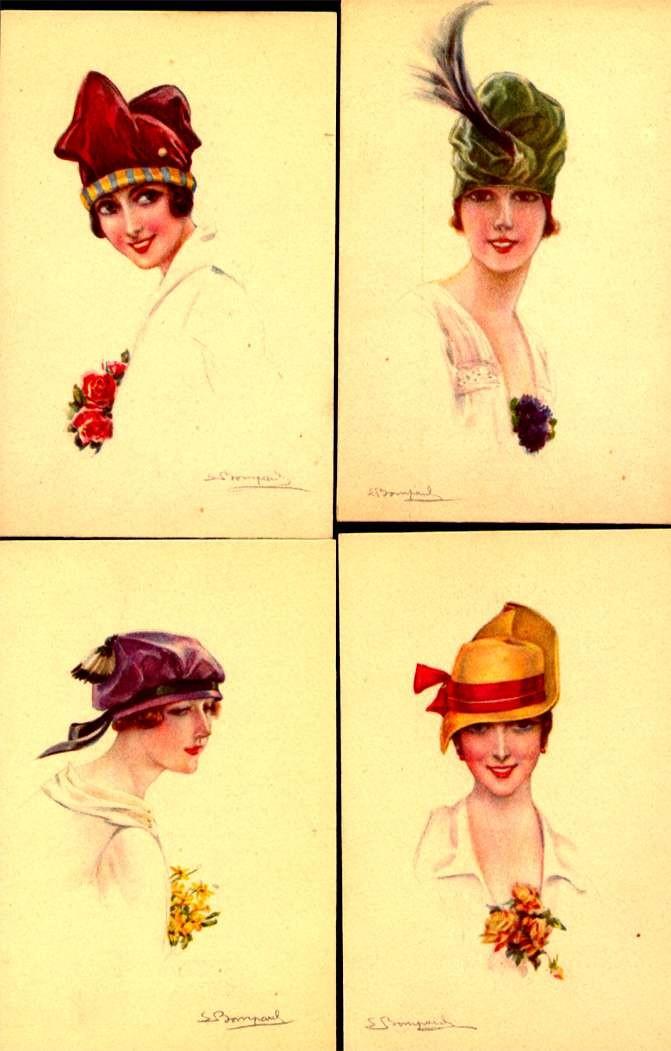Set of Six S. Bompard Lady Glamour