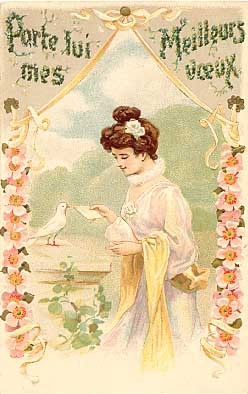 Woman Rose Dove French