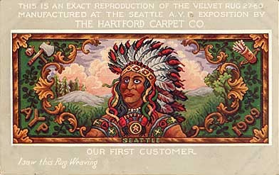Seattle Exposition Carpet Indian Advert