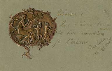 Bronze Relief Dance Satyr Argentina