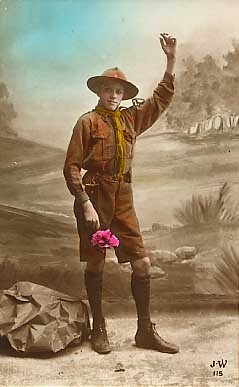 Boy Scout Real Photo French