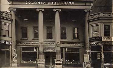 Colonial Building Real Photo